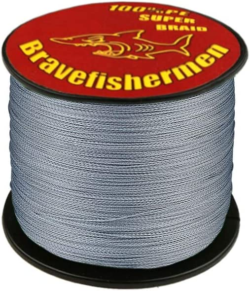 Superpower Braid Fishing Line 100m 300m 500m 1000m Saltwater 4 Strand 8lb-100lb Orange Gray Yellow Blue Tackle Accessories