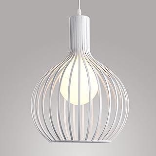 Suspension Luminaire industrielle Lustre Plafonnier E27 Vintage Abat-Jour en Métal Cage Lampe éclairage Cuisine Salle à ma...
