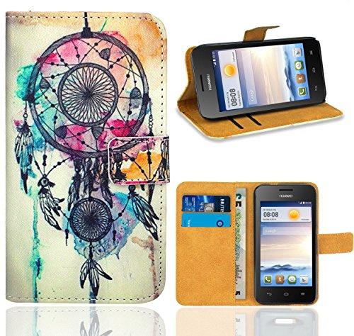 Huawei Ascend Y330 Handy Tasche, FoneExpert Wallet Hülle Flip Cover Hüllen Etui Ledertasche Lederhülle Premium Schutzhülle für Huawei Ascend Y330