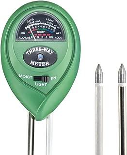 VENSMILE 3 in 1(土壌のPH/照度/水分検定)土壌測定器 土壌酸度/照度/水分計 土壌測定メーター 土壌 テスター 多機能 電池不要 簡易型 屋内/屋外使用でき 農業、栽培、家庭菜園など適用