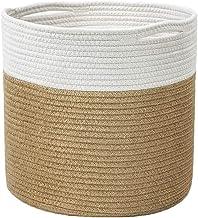 JUNQIAOMY Kosz do przechowywania nordycka lina bawełniana hamper kosz do przechowywania (kolor: żółty, rozmiar: 20 x 20 cm)