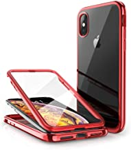 SUPCASE [Unicorn Beetle Electro Series] Case for iPhone Xs 2018 / X 2017, Plating Glitter Slim Hybrid Full-Body Protective Case with Built-in Screen Protector (Red)