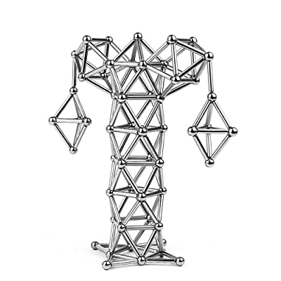 LiKee Upgraded 108 Pieces Magnetic Sculpture wi...