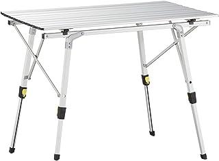 comprar comparacion Uquip Variety M - Mesa para Acampada, Aluminio, 89 x 53cm, Altura Regulable
