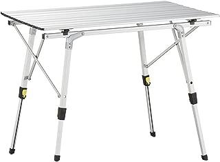 Uquip Variety M - Mesa para acampada, aluminio, 89 x 53cm,