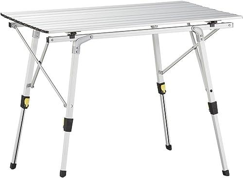 Uquip Variety M Table Pliante en Aluminium pour 4 Personnes (89x53cm) – Hauteur Réglable