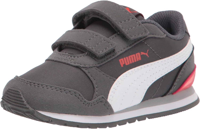 PUMA At the price of surprise Kids ST Runner 2 Hook Loop Sneaker Dark Shadow and White-G Sale SALE% OFF