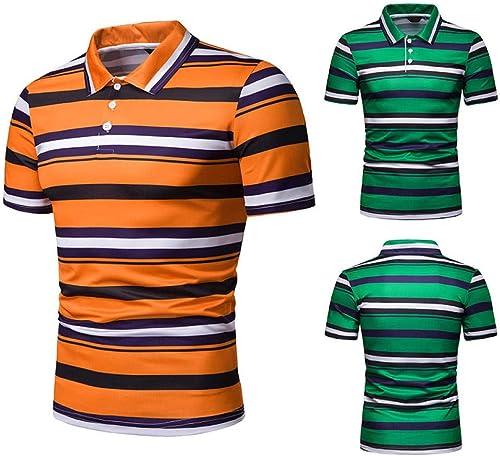 DMINFLOFFM T-Shirt Slim à Manches Courtes à Manches Courtes pour Hommes