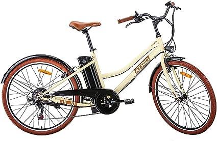 Bicicleta Elétrica Miami Aro 26 Retrô 350W 7.8Ah 6V Shimano Atrio - BI208