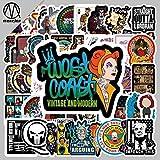 BLOUR 50 pegatinas de graffiti de la serie marina del equilibrio del coche del monopatín de la librería del refrigerador de la decoración