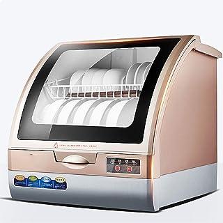 PIGE Lavavajillas Inteligente doméstico Mini máquina de Lavar vajilla automática, instalación sin Escritorio, esterilización a Alta Temperatura, un Clic para Abrir