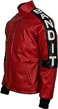Leatherobe Smokey and The Bandit Burt Reynolds Red Bomber Cosplay Leather Jacket Costume