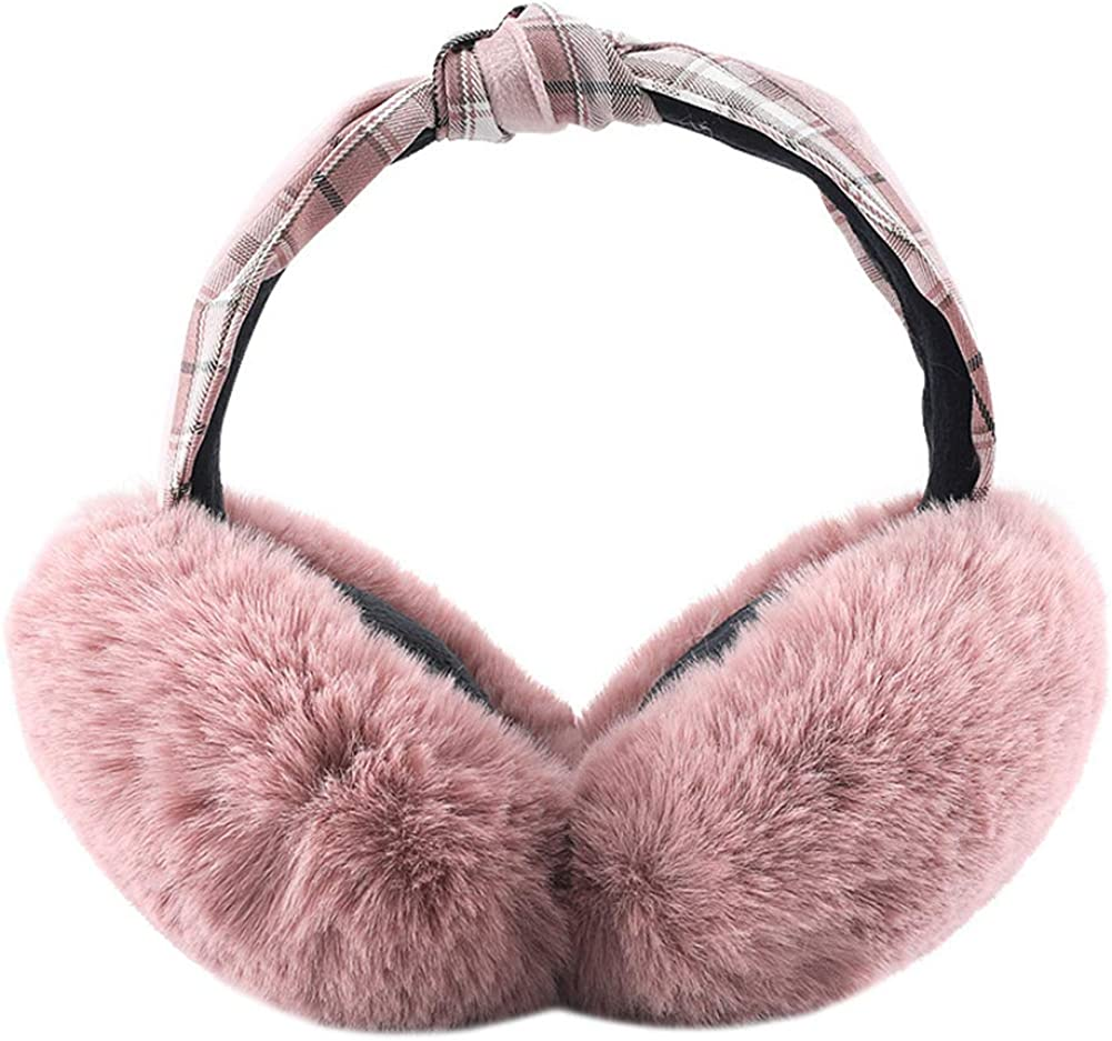 ICEVOG Women Faux Fur Ear Free shipping New Muffs War Knotted Quality inspection Headband Cute Style