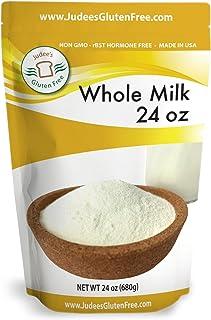 Judee's Whole Milk Powder (24 Oz/1.5lb/680 grams): NonGMO, rBST Hormone Free, USA Made, Pantry Staple - Baking Ready, Grea...