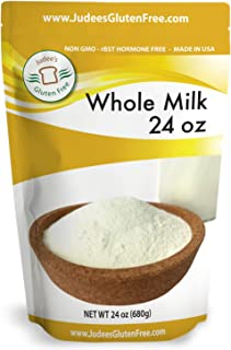 Judee's Whole Milk Powder (24 Oz/1.5lb/680 grams): Non-GMO, Hormone-Free and Produced in USA