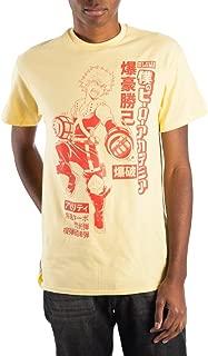 My Hero Academia Izuku Midoriya Men's Yellow T-Shirt Tee Shirt