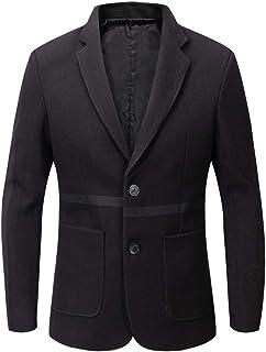 YOUTHUP Mens Slim Fit Blazer Solid Color Formal Business Suit Jacket 1 Button Dress Jackets
