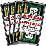 A-Tech 32GB (4x8GB) RAM for Late 2015 iMac 27 inch Retina 5K | DDR3L 1866MHz / 1867MHz PC3L-14900 SO-DIMM 204-Pin CL13 1.35V Non-ECC Unbuffered Memory Upgrade Kit