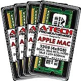 A-Tech 32GB (4x8GB) RAM for Late 2015 iMac 27 inch Retina 5K | DDR3L 1866MHz / 1867MHz PC3L-14900 SO-DIMM 204-Pin CL13 1.35V Non-ECC Unbuffered Memory Upgrade Kit