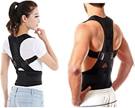 Forcado Unisex Magnetic Back Brace Posture Corrector Therapy Shoulder Belt for Lower and Upper Back Pain Relief,posture corrector for women,posture belt for men,back support belt for back pain (FREE SIZE)