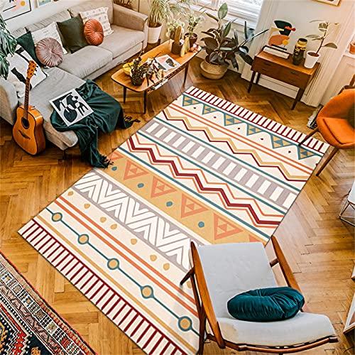 Estilo Marroquí, Dormitorio De Sala De Estar De Alfombra Nórdica, Cojín De Sofá Simple, Alfombra De Piso De Oficina para Dormitorio 120 x 160cm