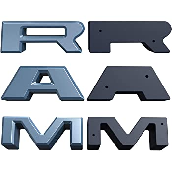 QUAKEWORLD Front Grille Grill R A M Letters R/&A/&M for Dodge RAM 1500 2013 2014 2015 2016 2017 2018