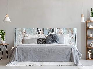 Cabecero Cama PVC Impresión Digital | Ciervo con Triangulos 150 x 60 cm | Cabecero Original y Económico