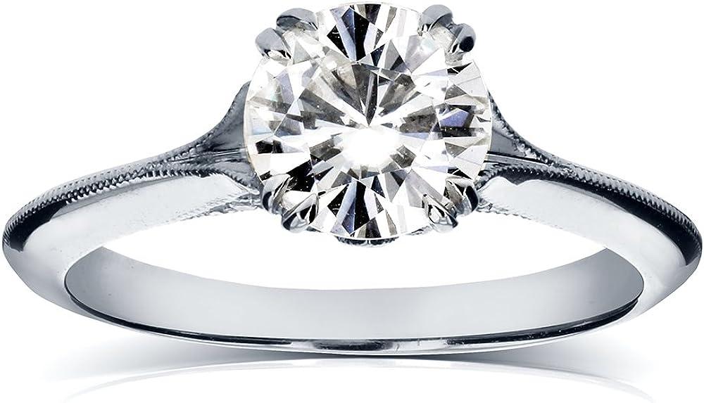 Kobelli Vintage Moissanite Engagement Ring 1 1/10 CTW 14k White Gold