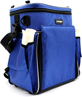 Adygil Fishing Tackle Back Pack Station W/4 Medium Utility Boxs and 1 pcs Cooler Bag Fishing Bag Fishing Pack
