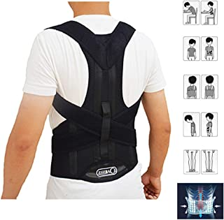 Back Brace Posture Corrector Clavicle and Lower Back Support- Comfortable Back and Shoulder Brace for Men and Women- Impro...