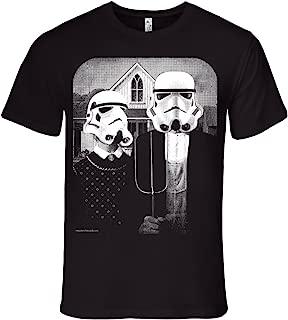 Mens Star Wars Storm Trooper American Gothic T-Shirt