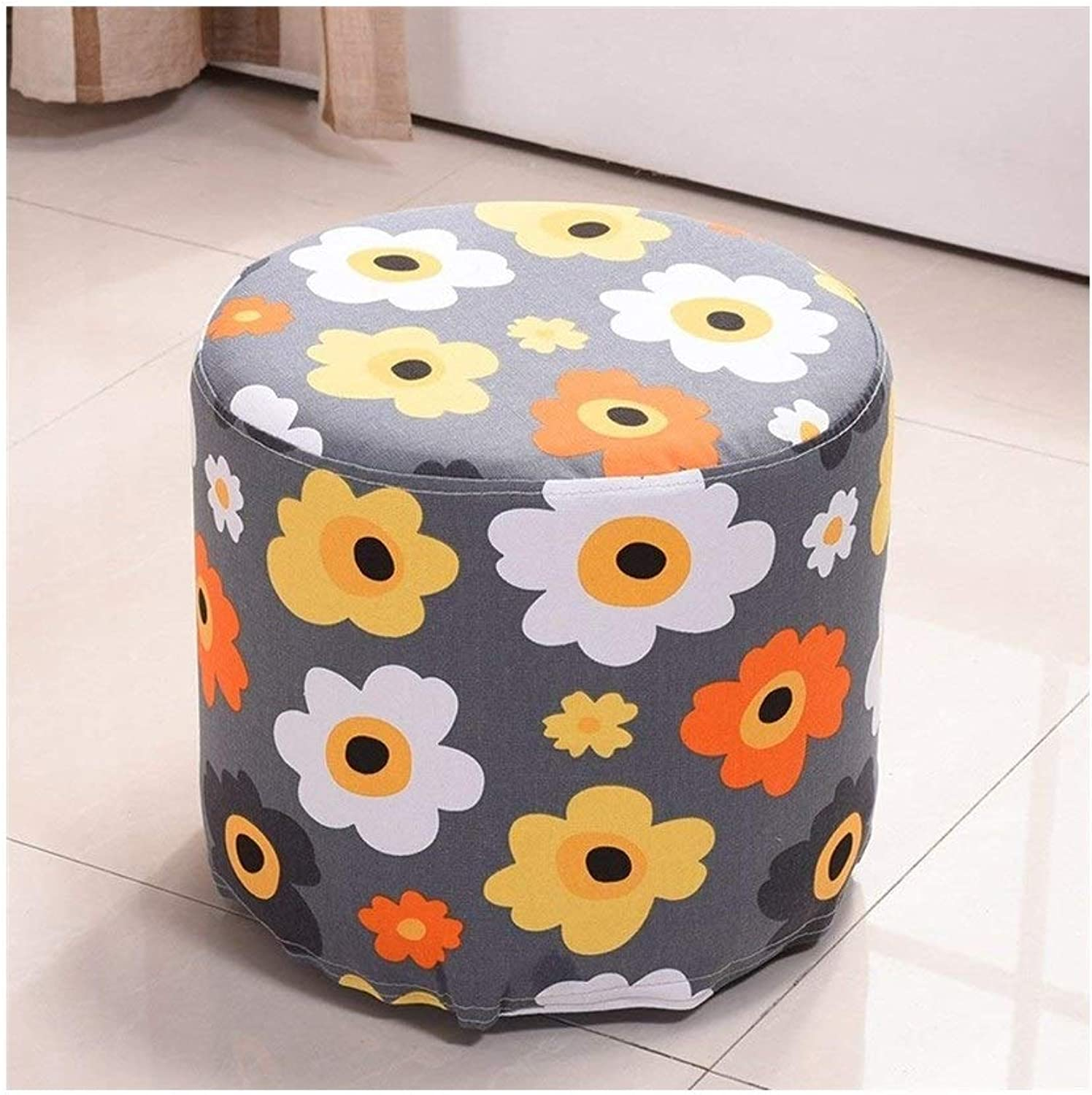 Fabric Sofa Stool Removable and Washable Fashion Stool Solid Wood shoes Bench Dressing Stool shoes Bench Stool Stool FENPING (color   E)