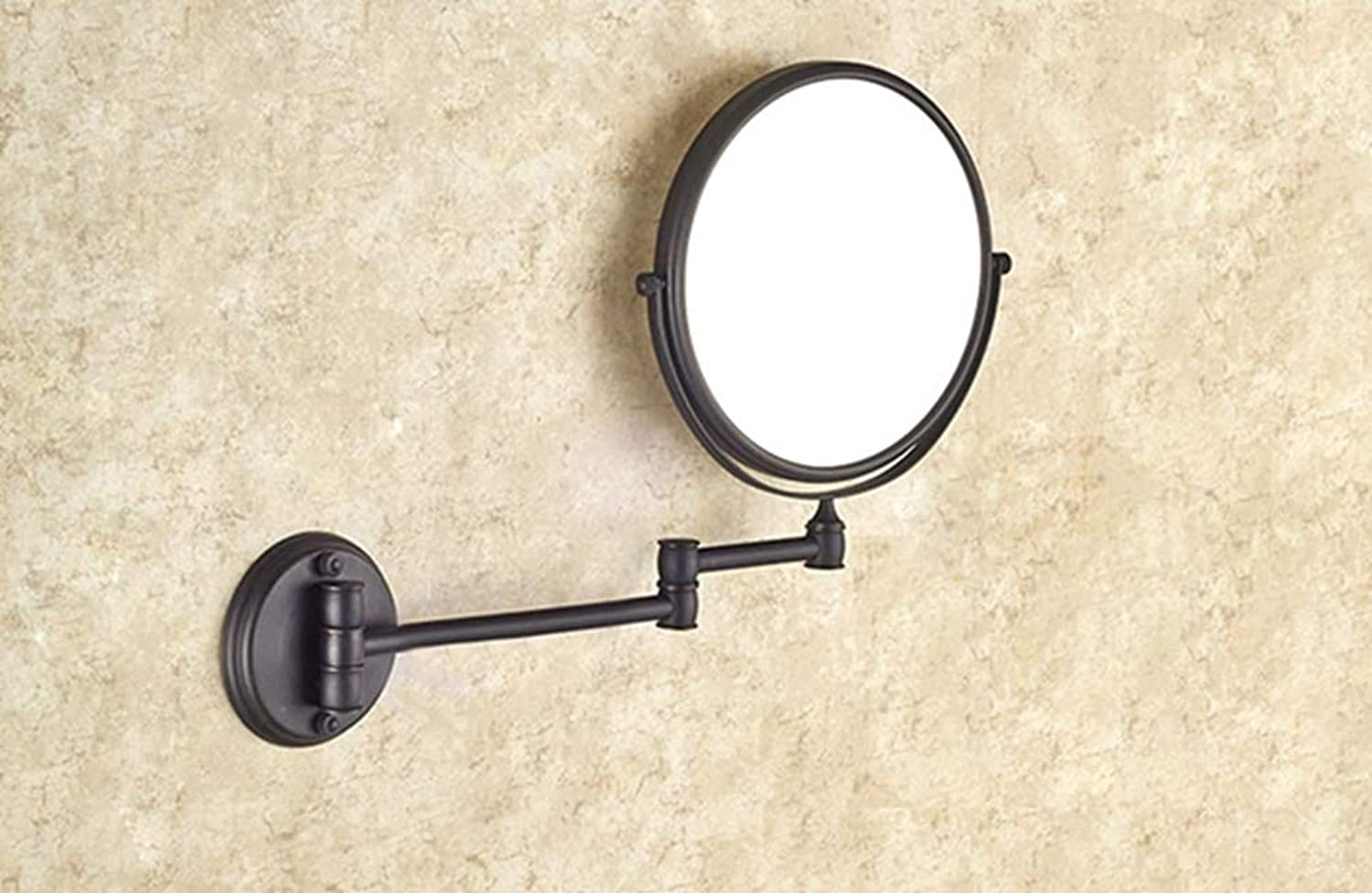 LUDSUY Bathroom Accessories Black Oil Rubbed Brass 8 Bathroom Shaving Beauty Makeup Magnify Mirror Dual Side Wall Mounted ∕ Bathroom Accessory