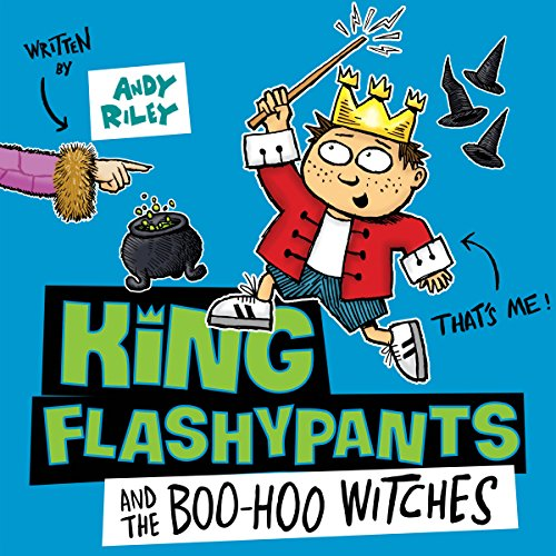 King Flashypants and the Boo-Hoo Witches audiobook cover art