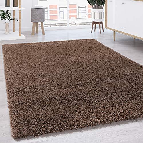 Paco Home Hochflor Shaggy Langflor Teppich versch. Farben u. Grössen TOP Preis NEU*OVP, Grösse:120x170 cm, Farbe:Braun
