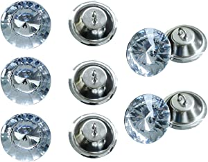 DZS Elec 10pcs Rhinestone Crystal Buttons 25mm Background Wall Decorative Buckle Furniture Crystal Buckle for Sofa Furniture Clothing Decoration