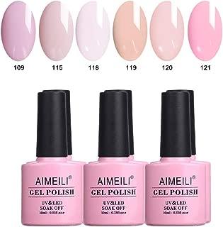 AIMEILI Soak Off UV LED Gel Nail Polish Multicolour/Mix Colour/Combo Colour Set Of 6pcs X 10ml - Kit Set 31