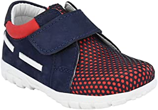 Hopscotch Tuskey Shoes Boys Genuine Leather Lining Leather Strap Leather Shoe in Blue Color
