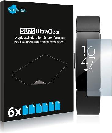 Savvies Pellicola Protettiva Compatibile con Fitbit Inspire HR Protezione Schermo [6 Pezzi]