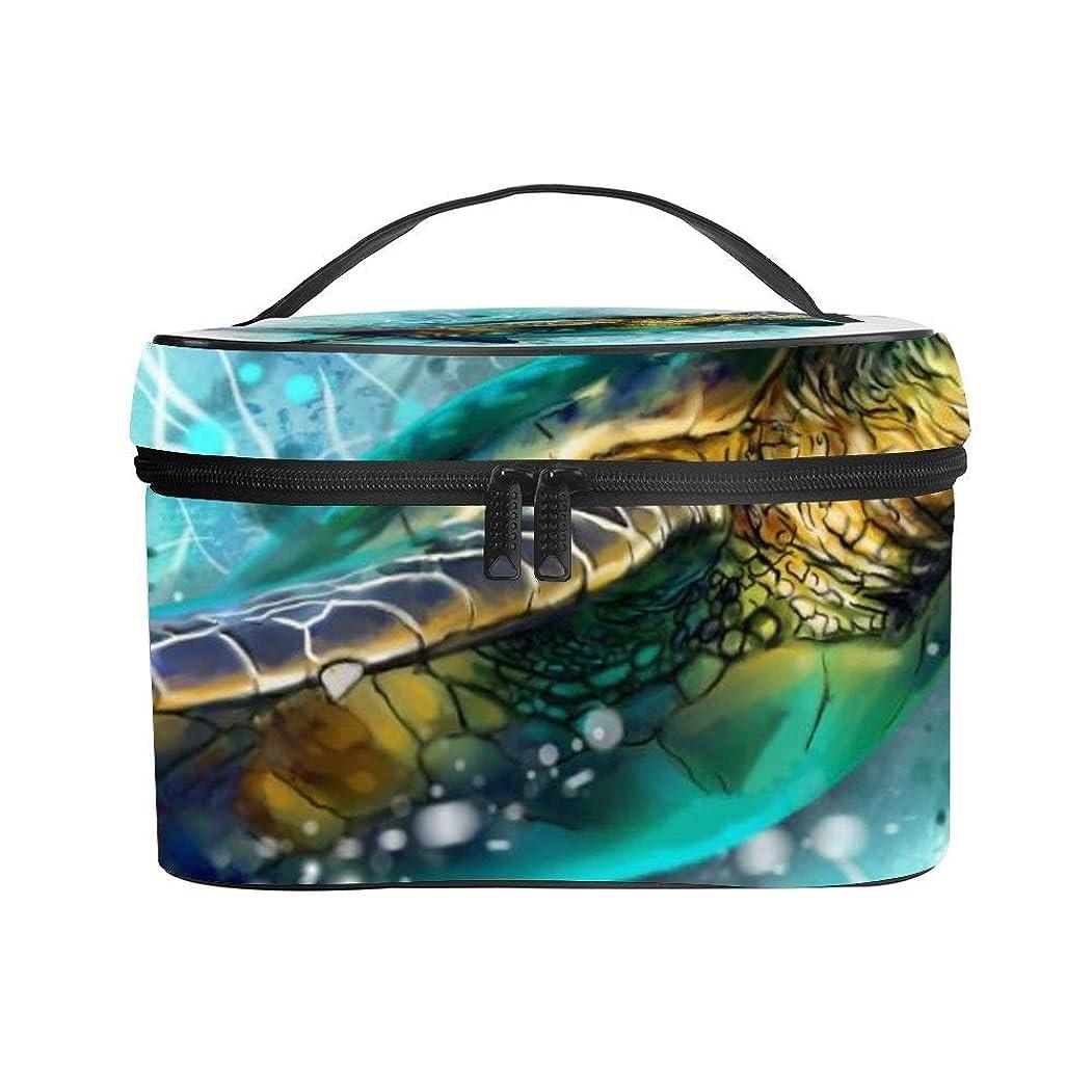 改修チート旅行メイクぼっくす PUレザー コスメボックス バニティポーチ 海の動物 化粧ボックス メイクブラシバッグ トラベルバッグ 人気 かわいい 大容量 機能的