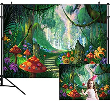OUYIDA Beautiful Forest Path Backdrop Enchanted Forest Photography Background Fantasy Magic Wonderland Decoration Children Birthday Party Newborn Baby Shower Banner Photo Studio Props 9X6FT TP113B