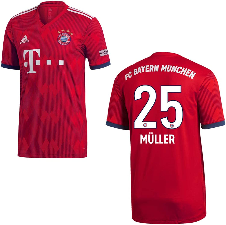 2019 Home Trikot MüNCHEN Bayern FC Adidas Kinder 25 MüLLER