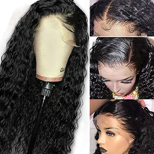 Younsolo Brazilian Deep Wave Lace Front Wigs Human Hair Wigs with Baby Hair 100% Unprocessed Virgin Hair wigs with Lace Frontal Wigs Pre Plucked Wet and Wavy Human Hair Wig Deep Wave Lace Front Wigs