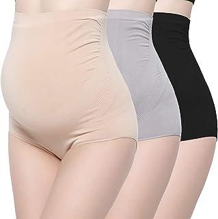 KUCI Bamboo Fiber Maternity Underwear, Women Ultra High Waist Superelastic Pregnant Panties Briefs