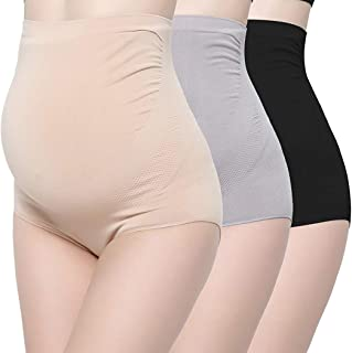 Bamboo Fiber Maternity Underwear, Women Ultra High Waist Superelastic Pregnant Panties Briefs