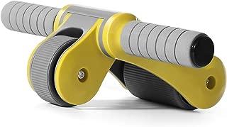 腹筋ローラー Hutbit 三角構造 エクササイズウィル 折り畳み可 アブホイール アブローラー 2輪 アブホイール 超静音 エクササイズローラー 膝マット付き