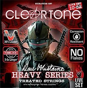 Dave Mustaine Signature Live Set Cuerdas para guitarra eléctrica (10–52) Parte de la serie de cuerdas tratadas de Cleartone, el juego de cuerdas Dave Mustaine Signature Live cuenta con un calibre personalizado, en este caso, 10–52, y está diseñado pa...