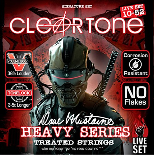 Cleartone Dave Mustaine Signature Live Set - Cuerdas para guitarra eléctrica (10–52)