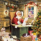 40x Servietten Santa's Mail Weihnachtsmann Weihnachten Advent Tischdeko Serviettendeko Weihnachtsdeko Lunchservietten