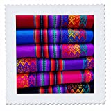 3D Rose Machu Picchu Pueblo Aguas Calientes Cusco Urubamba Peru Quadratische Tagesdecke, 25 x 25 cm